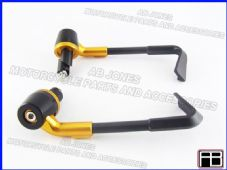 BRAKE AND CLUTCH LEVER PROTECTORS NEW DESIGN GOLD TRACK, RACE, STREETBIKE